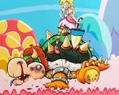 Princess Peach Packs a Powerful Punch 8x10 Print