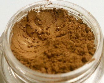 Caramel Custom Handmade Mineral Eyeshadow. Beautiful Shimmer. Use Wet or Dry. Vegan, Gluten Free, Chemical Free, Full 5 gm jar.