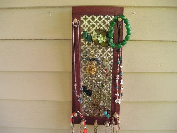 jewelry organizer, jewelry holder, jewelry storage, purple heart, earring holder, earring organizer, necklace holder, Montana, jewellery