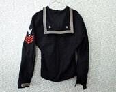 vintage military Navy uniform wool coat XS - S