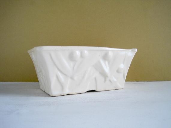 Vintage White Pottery Planter - McCoy Fernery