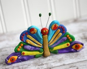 The Very Hungry Caterpillar - Beautiful Butterfly - Clay Cake Topper