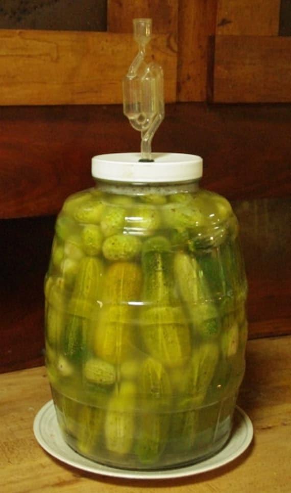 The Pickle Meister - Glass Fermentation / Sauerkraut Jar 2 1/2gal
