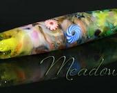 Glass Bead Lampwork Focal Bead Meadow SRA OOAK Handmade by CapricornDancer