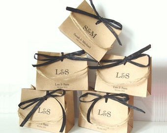 Wedding Favour Bags in Wide style set of 5