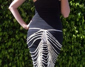 Art Deco Sparkle Skirt in Cream and Gold