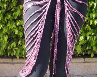 Art Deco Hip Drape in Pinkish Sparkle