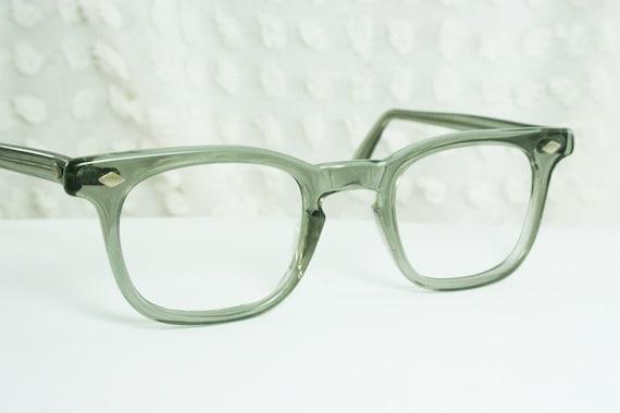 Vintage 50s Eyeglass Frames Mens : Vintage 50s Glasses 1950s Mens Eyeglasses Clear by DIAeyewear