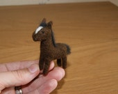 Felted horse, needle felted horse, natural wool gift, brown horse, horse miniature
