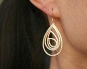 Gold Drop Earrings. Pendant Earrings. Gold Dangle Earrings.Everyday.Simple.Statement Earrings.Drop Earrings.Minimalist.Simple Gold Earrings