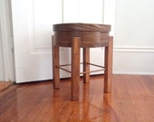 Table Primitive Antique Furniture Side Table Rustic mOdern Sewing Box Table