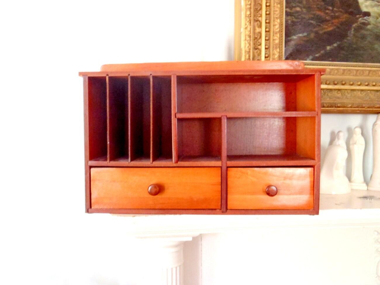 Danish modern desk organizer vintage by columbiaartsbuilding - Modern desk organizers ...
