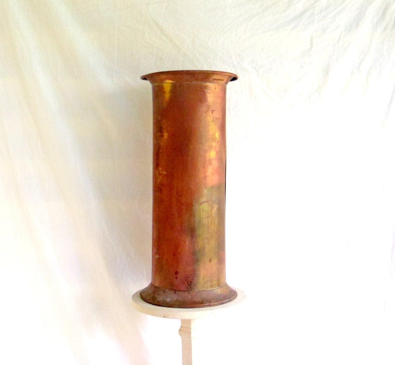 Brass Umbrella Stand Embossed: Umbrella Stand Copper Brass Antique Umbrella Stand