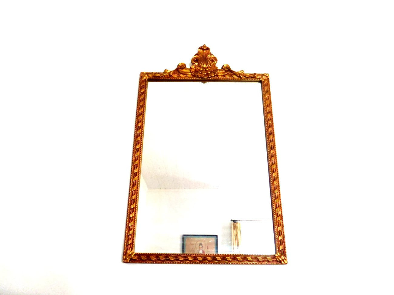 Antique mirror large wood frame wall by columbiaartsbuilding for Large wall mirror wood frame