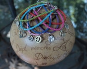 SUMMER OF LOVE Bohemian Hippie Peace Leather Bracelet  3 for 9.00 with Free Shipping.