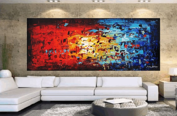 """Enormous 72""""xxl Large abstract  palette knife painting, from listed Artist Jolina Anthony signet  express shipping"""