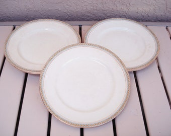 Vintage WESTEND POTTERY USA 5 Dinner Plates Pattern 421.