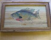 Original Lath Art-Sunfish....Great Gift Idea-Think Christmas