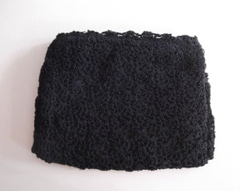 1940s Crochet Clutch Hand Muff Combo