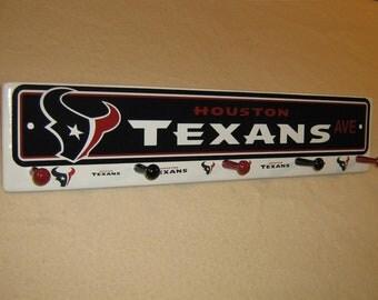 "Houston Texan's coat rack ""hangup""  (convo me for your favorite team)"