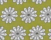 Delight, French Bull, Windham Fabrics, Green, Flowers, 1/2 Yard