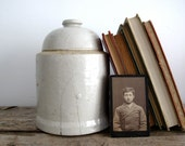 Vintage Ceramic Bookend / Book End - Industrial Rustic Decor - Cloche
