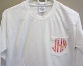 Monogrammed Applique Pocket Long Sleeve TShirt