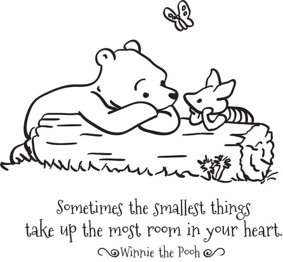 Winnie The Pooh Quotes Sometimes The Smallest Things: Classic Pooh Piglet Sometimes The Smallest By GrabersGraphics