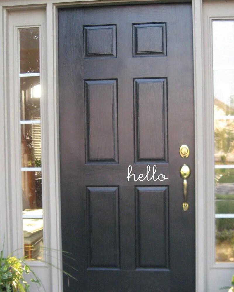 hello front door vinyl decal by grabersgraphics on etsy