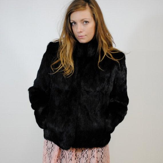 vintage fur coat / black (s-m)