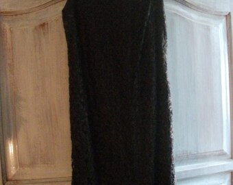 sale- CHOCOLATE BROWN LACE dress, body con, French size 40, 1990s, knee-length, cocktail dress