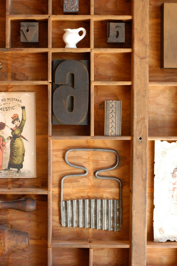 Vintage Letterpress Printers Drawer