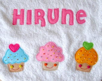 Cupcakes Personalized Bib