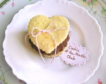 6 Month Cookie of the Month Club - Butter Blossoms Shortbread Cookies - Valentine's Day Cookie Gift