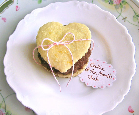 3 Month Cookie of the Month Club - Butter Blossoms Shortbread Cookies - Valentine's Day Cookie Gift