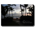 Tropical Sunrise, Canvas Gallery Wrap, 16x24 inch, Fine Art Signed Home wall decor