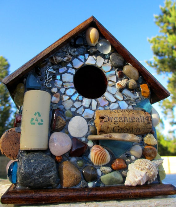 Tropical Mosaic Birdhouse