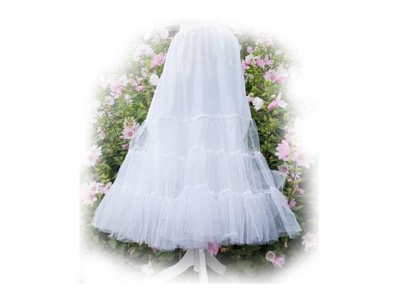 1960s flouncy petticoat vintage gypsy lace goth romantic - 2064A