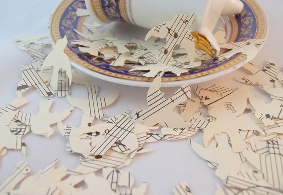 Love Bird Confetti made from Vintage Sheet Music