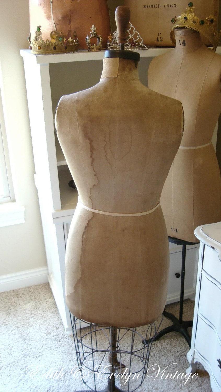Antique Benjamin Dress Form Mannequin 1931 With Cage Bottom