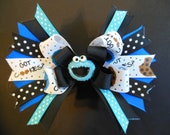 Cookie Monster boutique hairbow