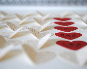 Unique Parents' Thank You Gift, Personalized 3D Hearts - Made from a poem, song or message of your own