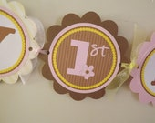 Personalized Happy Birthday Banner -Pink and Yellow Farm -Birthday Banner -Farm Animals -Photo Prop