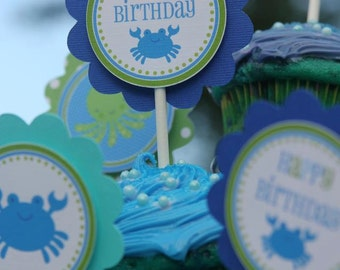 Blue Sea Collection: Cupcake Toppers