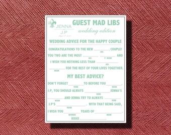 Wedding Mad Libs A Fun Guest Book Alternative DIY