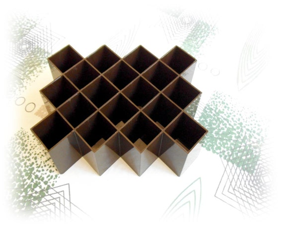 Copco Plastic Honeycomb Spice Rack - Chocolate Brown Tessellation Grooviness - Storage