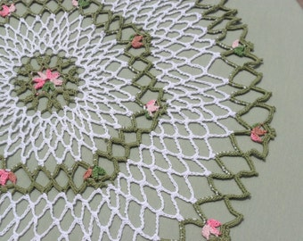Flower Bloom Crocheted Doily