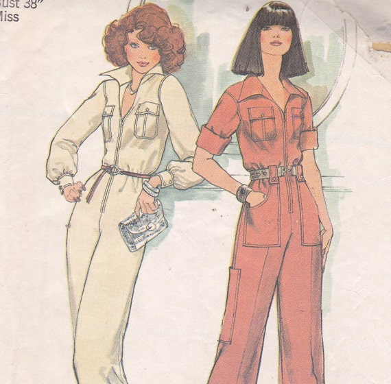 Classic Jumpsuit sewing pattern size 16 bust 38 from 1975 uncut Simplicity 7310