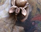 Vintage Brass Floral Stick Pin