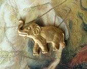 Vintage Old Brass AMAZING Elephant Piece